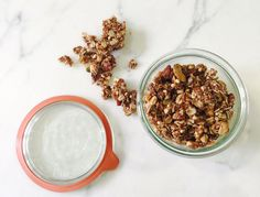 This granola is totally addictive. Baking it over a long time in a low oven makes it super crunchy, and it's detox-friendly so you can snack guilt-free. Eat with milk, over yogurt in a parfait, …