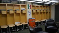 MSU Women's Soccer Team - locker room