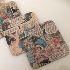 Set of 6 Justice League Coasters by ComicKamikaze on Etsy