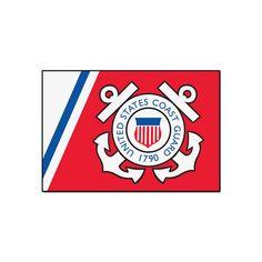 Fanmats US Coast Guard Starter Rug - 19'' x 30'', Multicolor