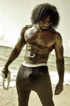Sexy black man with big dick
