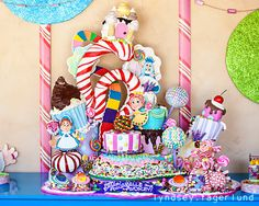 Candyland Birthday Cake by Rosebud Cakes, Los Angeles Candy Theme, Candy Party, Candyland, Rosebud Cakes, 6th Birthday Parties, Birthday Cakes, Birthday Ideas, 4th Birthday, Colorful Candy