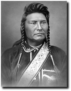 "Chief Joseph Hin-mah-too-yah-lat-kekt ""Thunder Traveling in the Mountains"" Photo by Orlando Scott Goff at Bismarck, Dakota Territory, October 1877"