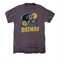Batman Night Owl Adult Premium Moth Heather T-shirt |