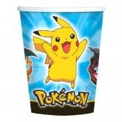 Serve hot or cold drinks in these Pokemon Pikachu and Friends 9 oz Paper Cups. Match with plates, napkins, larger cups, favors, balloons and decorations. Pokemon Party Supplies, Pokemon Party Decorations, 25th Birthday Parties, Birthday List, Birthday Ideas, Party World, Birthday Plate, Cute Pikachu