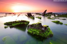 """The sun goes down on Barrika beach"" by joserra irusta, via 500px."