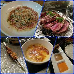 @shokuninyyc Late night eats at Shokunin yumm #latenight #ducktataki #tataki #beef #grassfed #healthy #sauce #sriracha #skewers #food #yyc #japanese #cuisine #unique #shokunin #ramen by eurokhuu