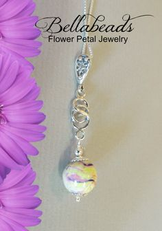Flowers to Beads/ Love Knot Pendant / Wedding/  Memorial Beads by myflowersforever on Etsy