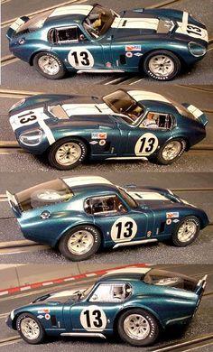 Slot Car Racing, Slot Cars, Race Cars, Auto Racing, Drag Racing, Ford Shelby Cobra, Shelby Car, Ac Cobra, Shelby Daytona