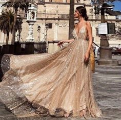 A Line V Neck Backless Champagne Long Sparkling Prom Dresses, Champagne Prom Gown, Formal Dresses Customized service and Rush order are available. A Line V Neck Backless Champagne Long Sparkling Prom Dresses, Champagne Prom Gown, Formal Dresses Gold Prom Dresses, Tulle Prom Dress, Evening Dresses, Dress Up, Wedding Dresses, Gold Formal Dress, Gold Sparkly Dress, Long Formal Dresses, Prom Dress Long