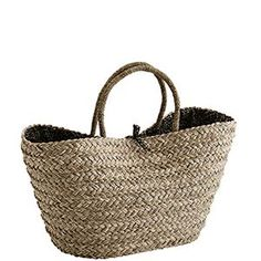 straw bag with leopard print lining