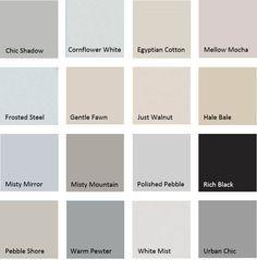 Nuancier peinture couleur lin Tollens 12 couleurs | Nuancier ...