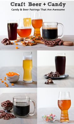 We all know Wine  Cheese pairings are popular, but we're kind of partial to these awesome Candy and Beer Pairings!