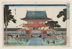 "Utagawa Hiroshige I 歌川広重 ""Mount Atago in Shiba""  from the series ""Famous Places in the Eastern Capital, ' about 1832–38  「東都名所 芝愛宕山之図」 Woodblock print (nishiki-e); ink and color on paper"