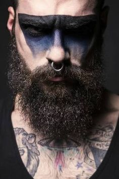 Beard Styles 412079434631550853 - asifthisisme: Edwar Tiger photographed by Mark VeintinueveMakup by Lydia Corral and beard products by Fellows Essential Gentleman Source by jbruxelles Halloween Men, Halloween Face Makeup, Makeup Inspo, Makeup Inspiration, Makeup Ideas, Viking Makeup, Make Up Art, How To Make, Make Up For Men
