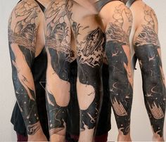 Moby Dick Sleeve Tattoo http://tattoos-ideas.net/moby-dick-sleeve-tattoo/ Sleeve Tattoos
