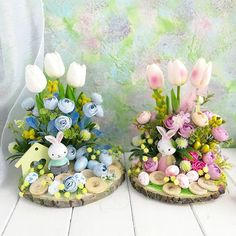 Spring Crafts, Holiday Crafts, Easter Tree Decorations, Easter 2018, Daycare Crafts, Easter Table, Flower Centerpieces, Craft Fairs, Easter Crafts