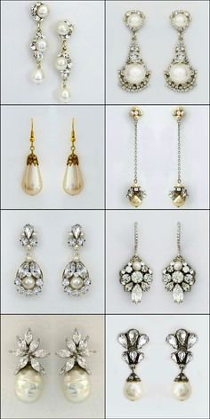 Pearl Bridal Earrings. Sometimes you just have to put a pearl on it. From classic pearl drops to vintage pearl earrings, fresh couture to modern glam some of our customers favorite pearl earrings. https://perfectdetails.com/bridal-pearl-earrings.htm