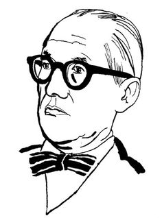 lucinda rogers drawing black and white dictionary of urbanism le corbusier portrait