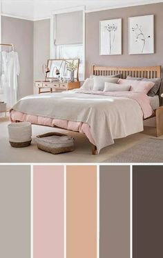 Light pink taupe bedroom color scheme bedroom color scheme deco - Bedroom Bed, Linen Bedroom, Furniture Bedroom and Style Master Bedroom Bedroom Color Schemes, Bedroom Paint Colors, Colour Schemes, Color Palettes, Colors For Bedrooms, Relaxing Bedroom Colors, Light Pink Bedrooms, Interior Design Color Schemes, Best Bedroom Colors