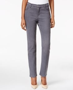 Lee Platinum Gwen Straight-Leg Jeans, Only at Macy's - Gray 8L