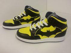 Custom Painted Batman Jordans by ProjektKreations on Etsy, $250.00