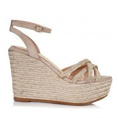 SANTE - ΠΛΑΤΦΟΡΜΕΣ - SHOES Suede Leather, Wedge Shoes, Espadrilles, Wedges, Brown, Heels, Fashion, Espadrilles Outfit, Heel