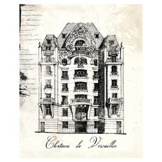 French Chateau Canvas Print (Set of 2)
