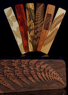 Carved wooden bookmarks from my collection