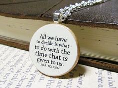 JRR Tolkien/LOTR quote necklace