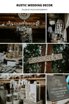 Beautiful rustic wedding decor for wedding reception. To see more rustic wedding ideas visit Teller of Tales Photography. Wedding Reception Decorations, Reception Ideas, Free Stories, Theme Ideas, Weddingideas, Rustic Wedding, Ranch, Fun, Photography