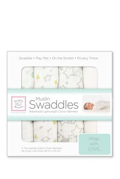 Muslin cloth swaddles