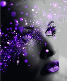 Things I Love About: Beautiful Colors Purple Haze, The Purple, Purple Stuff, All Things Purple, Shades Of Purple, Purple Lips, Purple Sparkle, Purple Makeup, Color Splash