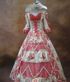 Marie Antoinette FRENCH 18TH CENTURY VICTORIAN DRESS