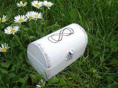 Rustic Infinity Ring Bearer Box Wedding Ring Box by WeddingMoodArt Wedding Ring Box, Wedding Boxes, Ring Bearer Box, White Box, Infinity, Rustic, Unique Jewelry, Handmade Gifts, Vintage