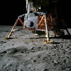 A view of the Apollo 11 lunar module. July 20, 1969. (Source: NASA)