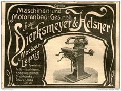 Original-Werbung/Anzeige 1906 - MASCHINEN- UND MOTORENBAU DIERKSMEYER & HELSNER/ MOCKAU - LEIPZIG - ca. 100 x 70 mm