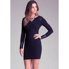 Bebe Mesh Back Dress