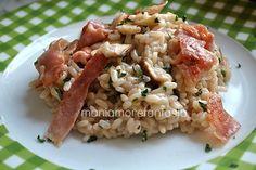 Il risotto ai funghi porcini è un classico della cucina tradizionale, arricchitela con striscioline di speck croccante e vedrete che bontà. Clicca sul link.