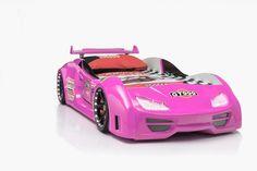 Autobett Gran Torino GT999 Pink mit Türen und Fernbedienung - Das Kinderbett für Mädchen!