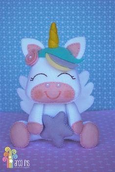 Unicornio de feltro