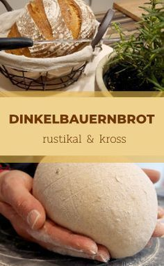 Leckeres und einfaches Bauernbrot aus Dinkel und Roggen selberbacken Delicious and simple farmhouse bread made from spelled and rye bread Food Cakes, Easy Bread Recipes, Cake Recipes, Baking Recipes, Pain Artisanal, Bread Starter, Pampered Chef, How To Make Bread, Bread Baking