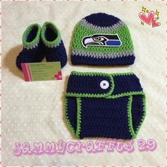 Baby Seattle Seahawks Diaper Cover Set/Baby Football/Newborn Baby/Baby Boy/Baby Girl/Newborn Photo prop/Baby Shower Gift/Made to order by JAMMYCRAFFTS29 on Etsy