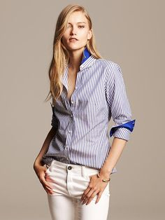 I will always love a simple button down.