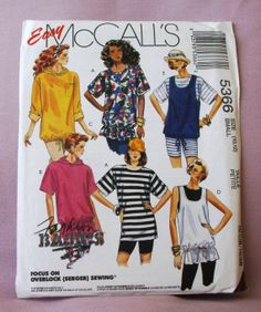 1991 Uncut  Easy McCall's Pattern  5366 by lovelylovepatterns, $4.00