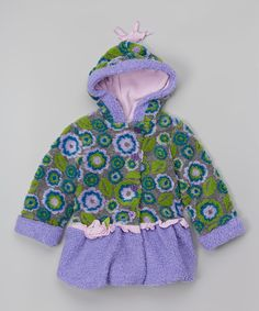Look what I found on #zulily! Lavender Hooded Ruffle Coat - Infant, Toddler & Girls by Olive & Lucy by Mack & Co #zulilyfinds