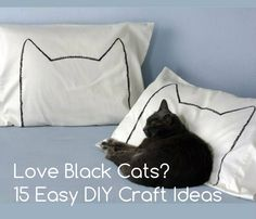 Love Black Cats? 15 Quick And Cute DIY Ideas For Black Cat Lovers ... see more at PetsLady.com ... The FUN site for Animal Lovers