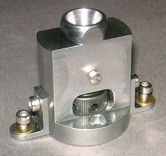 Upright collet holder