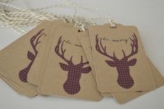 Be Merry Gift Tags - Reindeer Tags by HeathersPartySpot on Etsy https://www.etsy.com/listing/477418540/be-merry-gift-tags-reindeer-tags