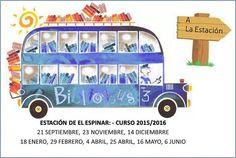 Comienzan las rutas del Bibliobus.Llegará a La Estación de El Espinar el 21 #¡feliz lectura!